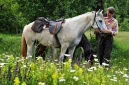 the horse and her rider, North Balkan Mountain region, Bulgaria